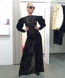 9eccac8803f Прозрачное вечернее платье. Украинский дизайнер Atelier Isa.Размер XS